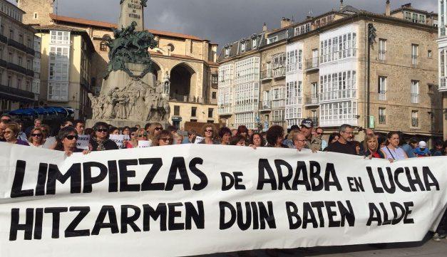 Trabajadoras y trabajadores de Limpieza de Edificios y Locales de Alava inician movilizaciones en defensa del convenio