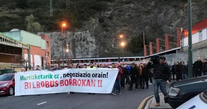 Comienzan los paros en Bilbobus que concluirán con huelga de 24 horas el día 21, Santo Tomás