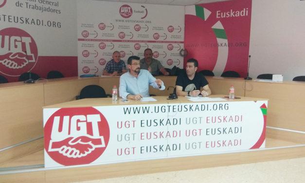 UGT celebra asambleas de sus representantes sindicales  del sector de limpieza y seguridad en Euskadi
