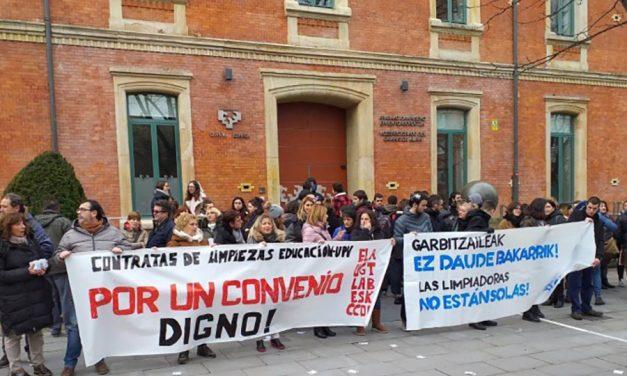 UGT no convoca la huelga de 5 semanas en la limpieza de Educación y UPV