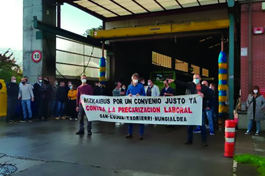 El Comité del Bizkaibus Txorierri -Mungialdia denuncia a la empresa ante la Inspección de Trabajo por vulnerar el derecho de huelga