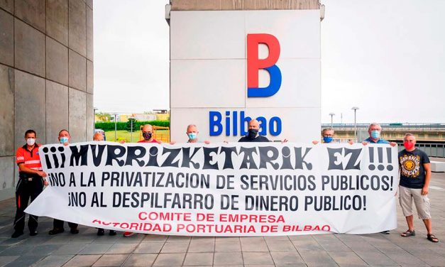 Los sindicatos convocan a los trabajadores de la Autoridad Portuaria de Bilbao el día 31 en la terminal de cruceros de Getxo